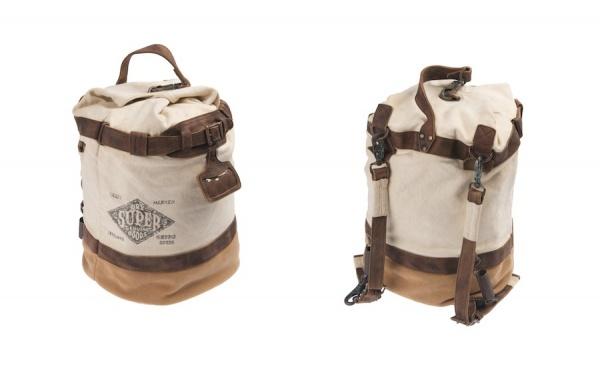 100 US9ED101 MAILMAN DUFFEL Cream Dark Beige Saddle Superdry Mailman Bag