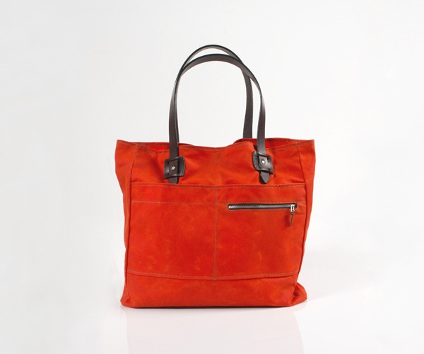 Tanner Goods Spring Summer 2012 Blaze Orange Tote Bag 01 Tanner Goods Spring/Summer 2012 Blaze Orange Waxed Canvas Tote