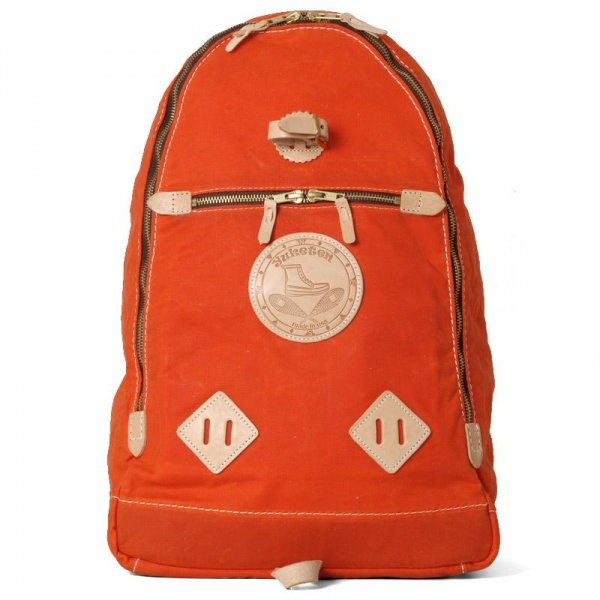 21 02 2012 yuketen waxedtrianglebag orange large Yuketen Waxed Triangle Backpack