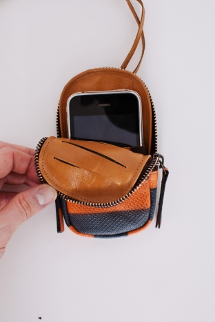 dries iphone case orange blue003 Dries Van Noten iPhone Wallet