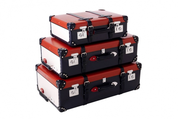 globe trotter red white blue limited edition luggage series 1 Globe Trotter Red, White, & Blue Limited Edition Luggage Set