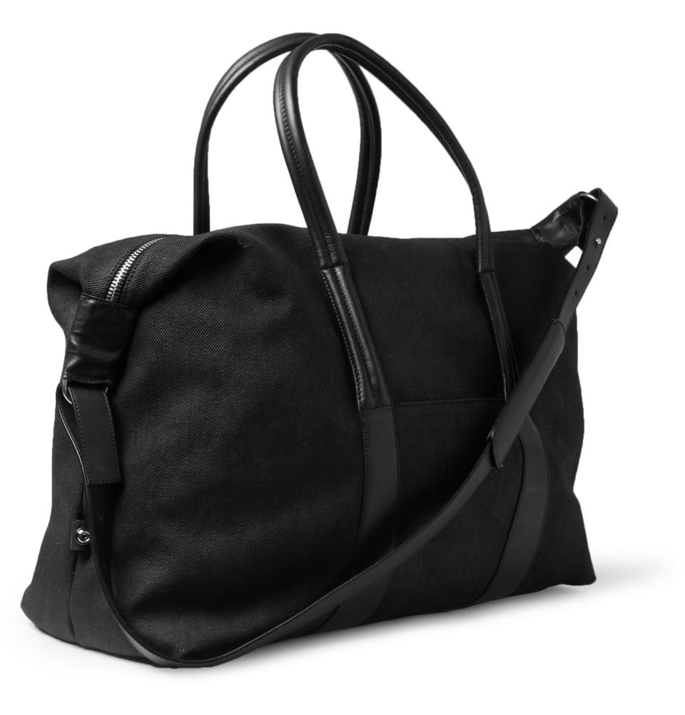 336461 mrp fr xl Maison Martin Margiela Leather Trimmed Canvas Holdall Bag