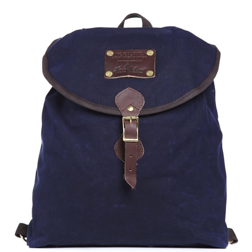 12 03 2013 woolrich knapsack navy1 Woolrich Navy Oiled Backpack