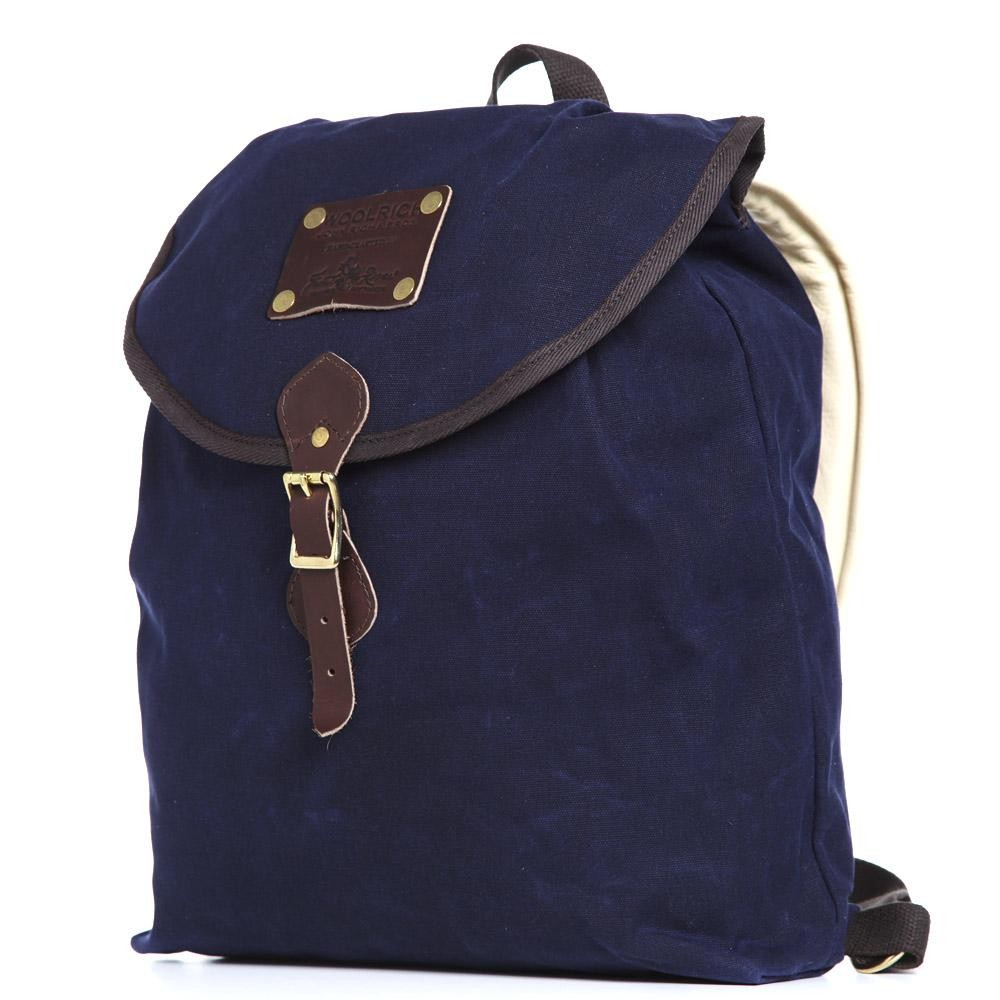 12 03 2013 woolrich knapsack navy2 Woolrich Navy Oiled Backpack