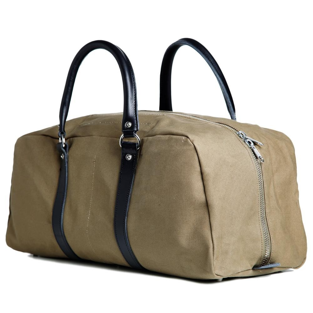 29 03 2013 cdgshirt canvastravelbag olive3 Comme des Garcons SHIRT Canvas Travel Bag