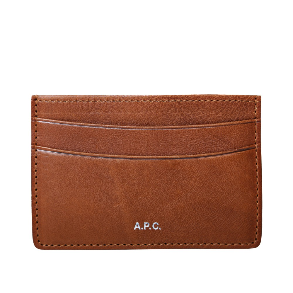 25 06 2013 apc cardholder lightbrwon  A.P.C. Leather Card Holder