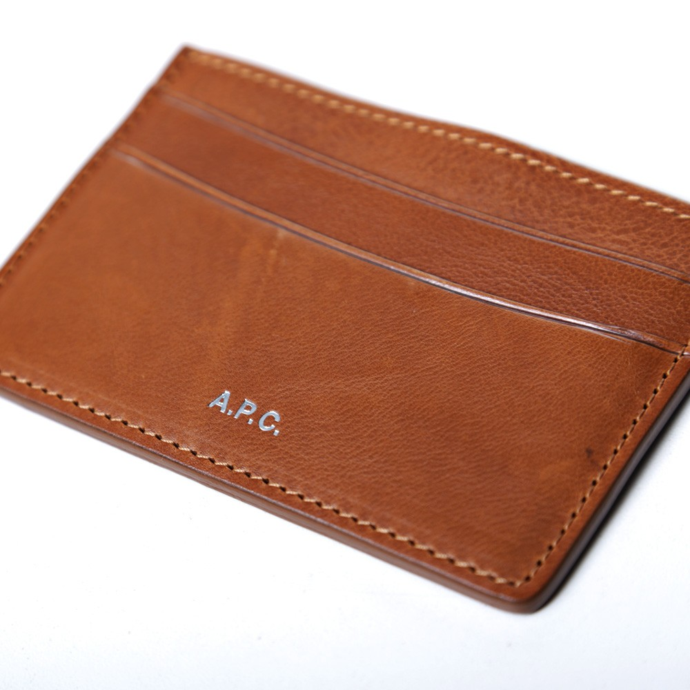 25 06 2013 apc cardholder lightbrwon d1 A.P.C. Leather Card Holder