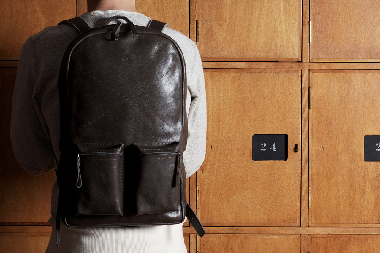 hard graft old school leather rucksack backpack smoke 2 hard graft Old School Rucksack