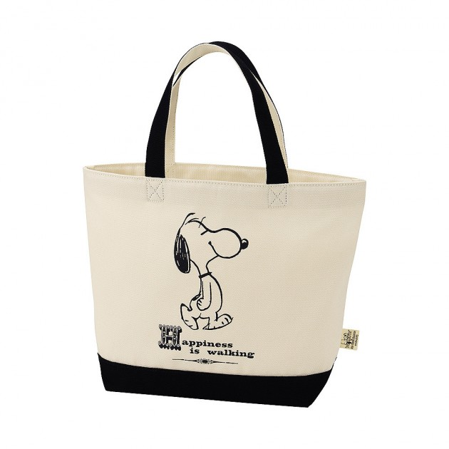 snoopy tote 1 630x630 Uniqlo Snoopy & Peanuts Tote Bag Collection