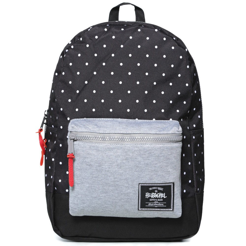 16 09 2013 stussyherschelsupplyco settlementdotbackpack black d1 Stussy x Herschel Supply Co. Settlement Dot Back Pack
