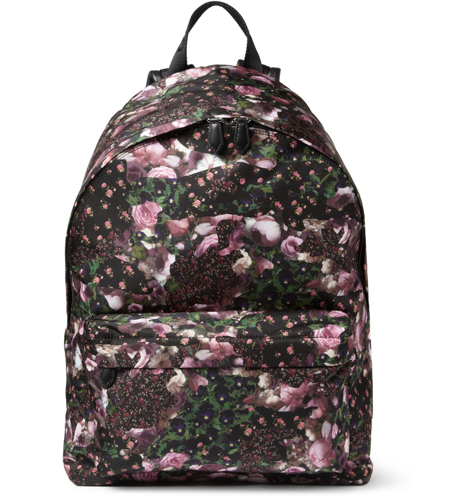 400116 mrp in xl1 Givenchy Floral Print Backpack