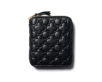 Comme des Garcons Embossed Leather Line Zip Wallet