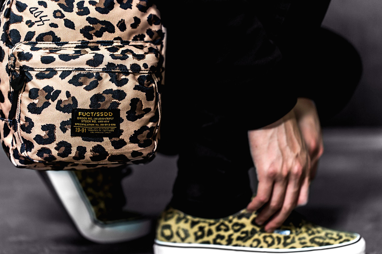 fuct ssdd 2013 fallwinter leopard print bag collection 5 Fuct SSD Leopard Print Bag Collection