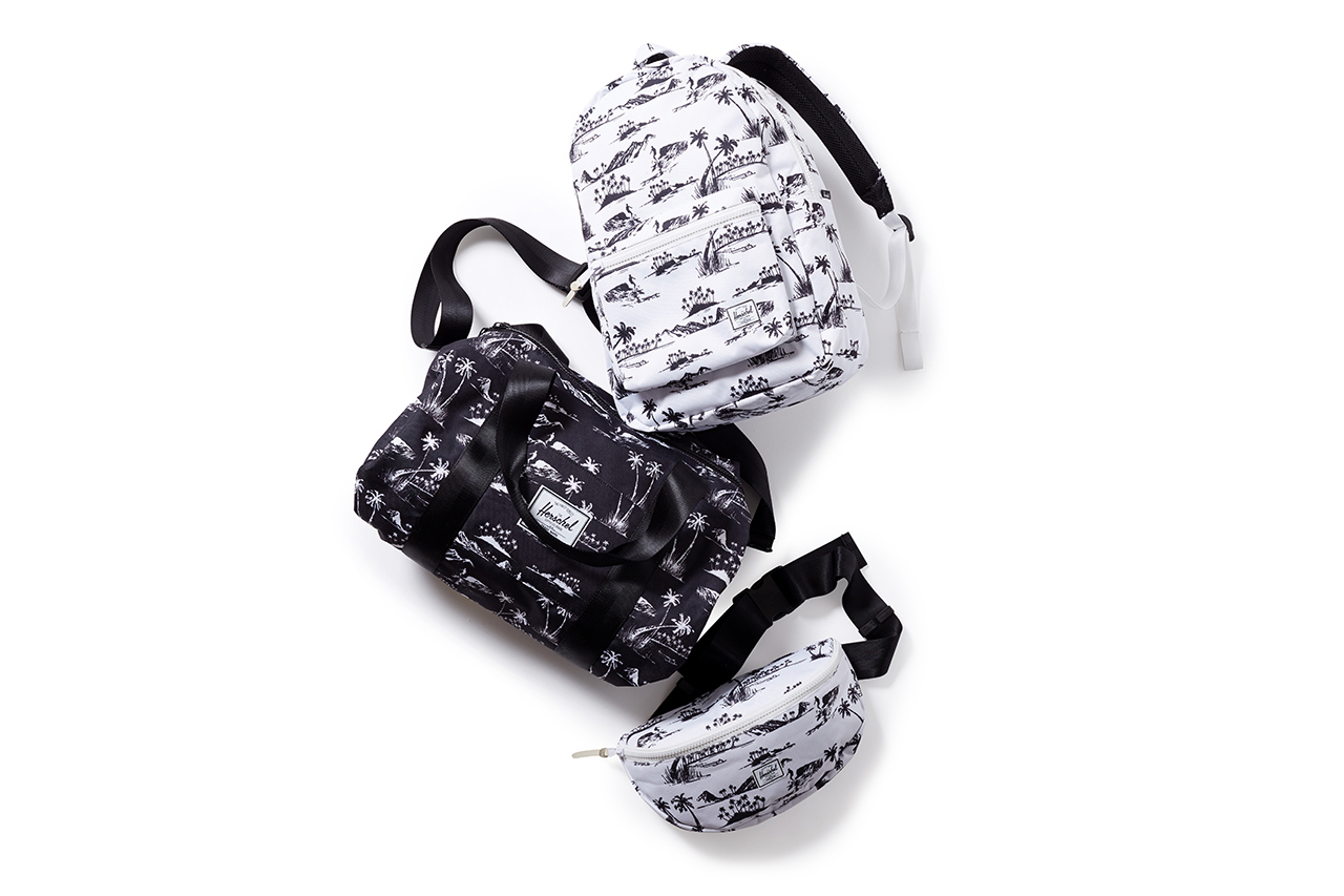 herschel supply co for beauty youth 2014 capsule collection 1 Herschel Supply Co. x Beauty & Youth Aloha Accessory Collection