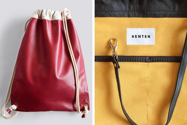 Henten Bags 02 630x420 Henten Leather Drawstring Bags