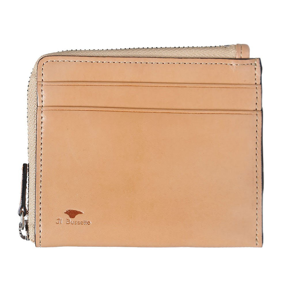 27 11 2013 ilbussetto zipwallet natural 1 Il Bussetto Leather Zip Wallet