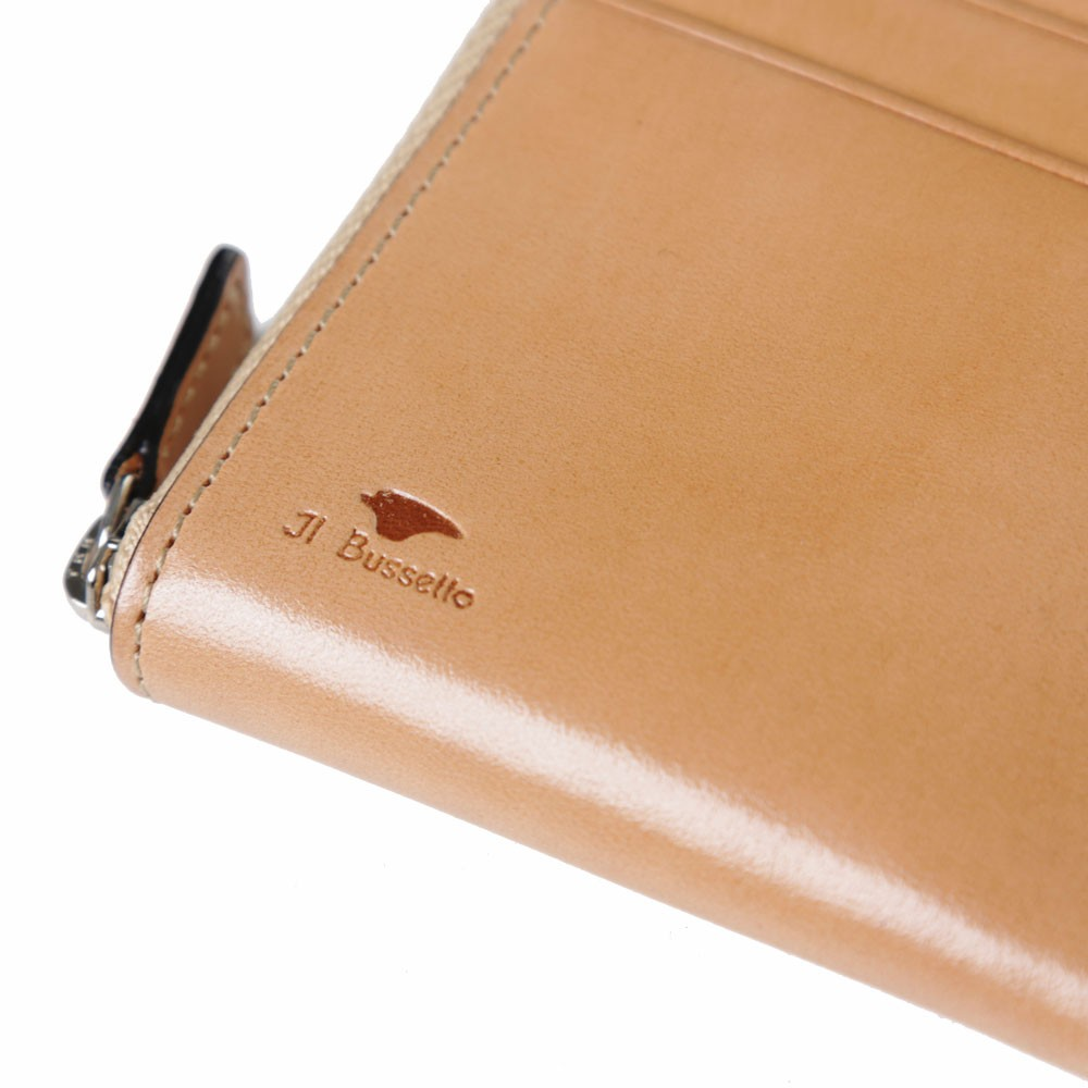 27 11 2013 ilbussetto zipwallet natural 2 Il Bussetto Leather Zip Wallet