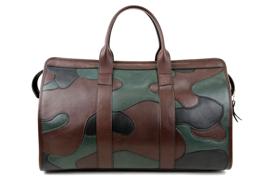 frank clegg camo travel duffle 1 Frank Clegg Camouflage Leather Duffel